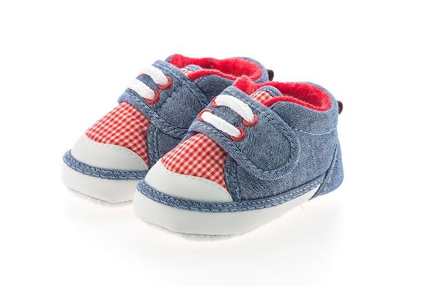Chaussures pour bébés isolées
