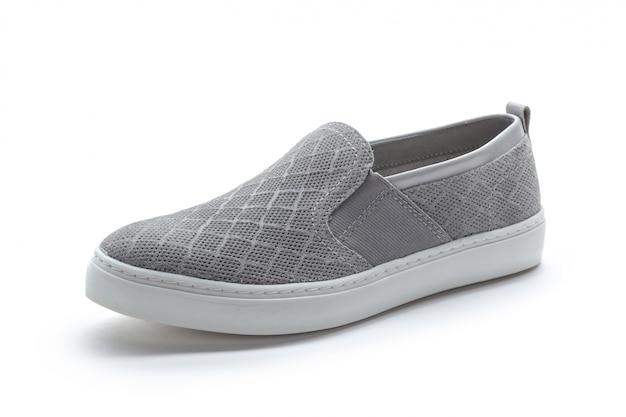 Chaussures pour femmes avec semelle plate isolée sur fond blanc