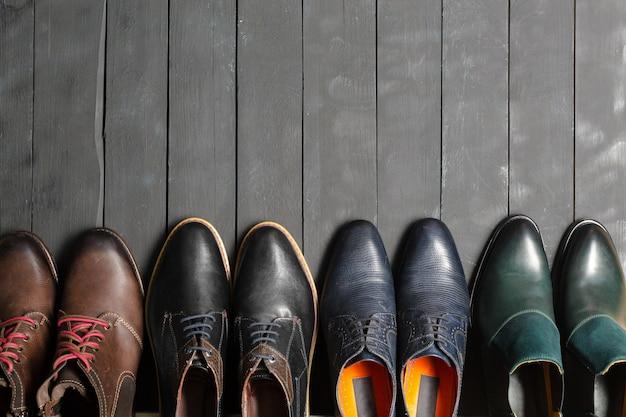 Chaussures pour hommes en cuir