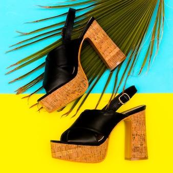 Chaussures à talon pour dame look d'été sandales élégantes