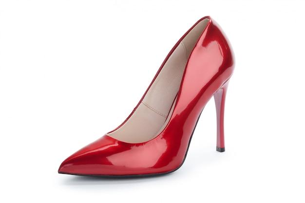 Chaussures à talons femme isolés sur blanc