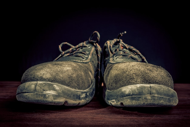 Chaussures de travail difficiles - concept de fête du travail