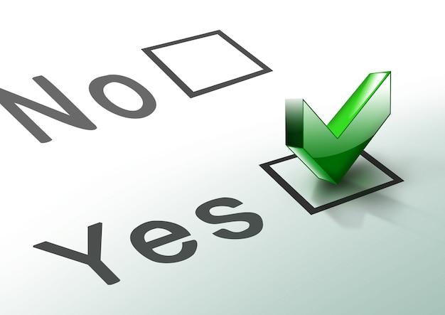 D check list symbol généré par ordinateur pour vos projets