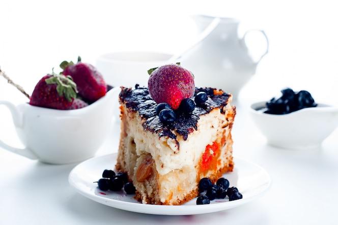 Cheesecake aux fraises et au chocolat