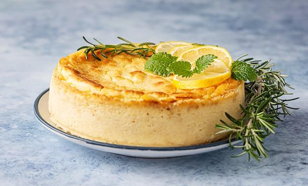 Cheesecake citron vanille et romarin
