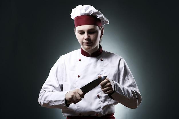 Chef avec couteau