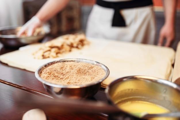 Chef de cuisine strudel, ingrédients de la pâtisserie