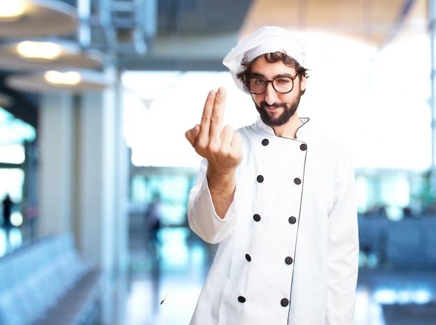 Chef fou expression de colère
