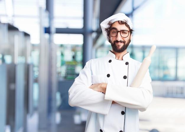 Chef fou expression heureuse