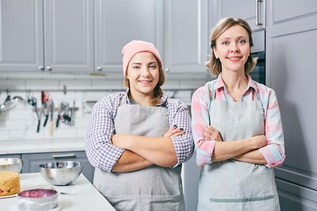 Chefs professionnels à la cuisine