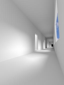 Chemin dans la pièce, passerelle, rendu 3d