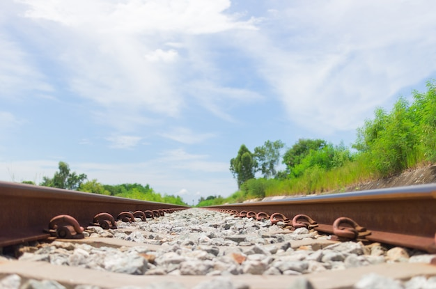 Chemin de fer et ciel