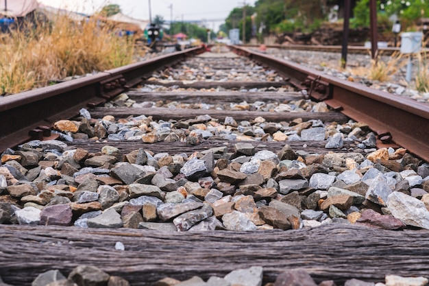 Chemin de fer extérieur paysage de fond à la gare