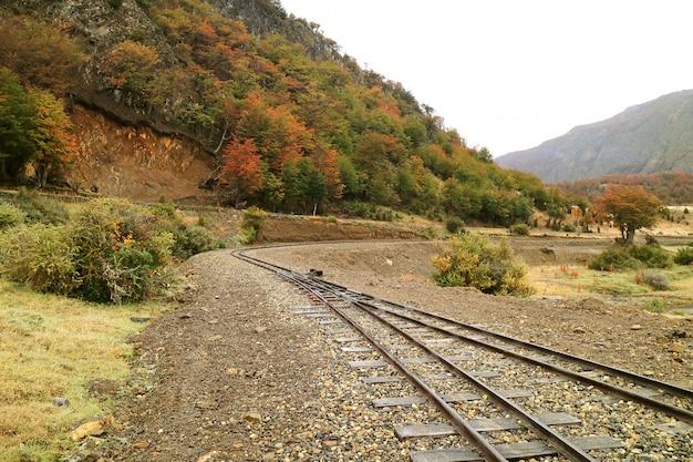Le chemin de fer fonctionnant le plus au sud du monde dans la province de tierra del fuego, argentine