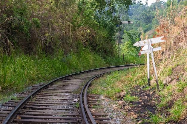 Chemin de fer obsolète au sri lanka