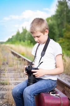Chemin de fer valise garçon