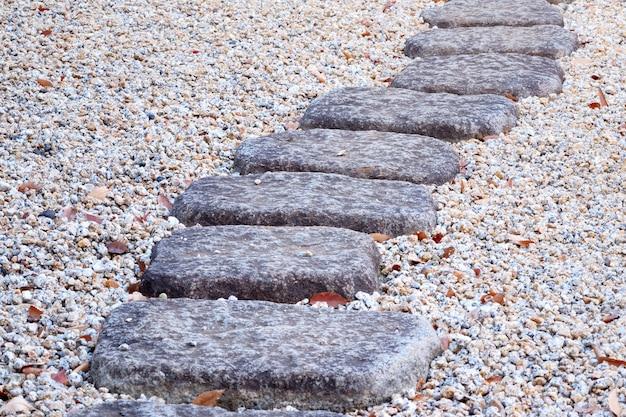 Chemin de pierre dans un parc japonais
