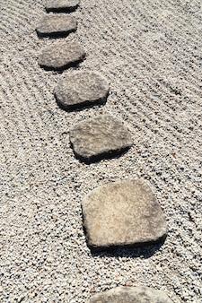 Chemin de pierre vertical