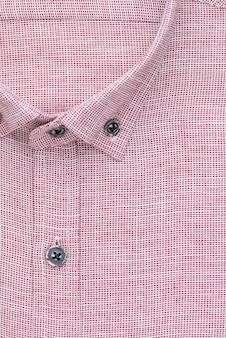 Chemise, col et bouton détaillés, vue de dessus