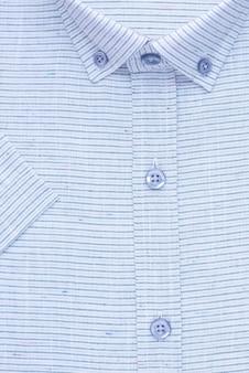 Chemise, col et poignets détaillés, vue de dessus