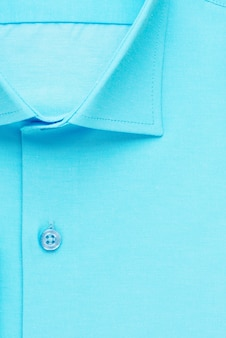Chemise verte, col et bouton détaillés, vue de dessus