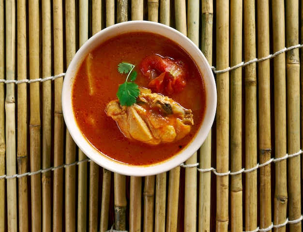 Chettinad chicken rasam - soupe du sud de l'inde