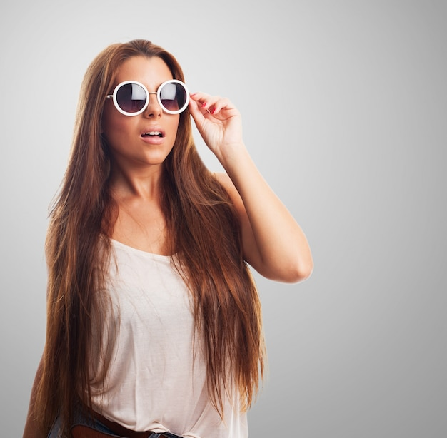 Cheveux coiffure soin d'été élégant