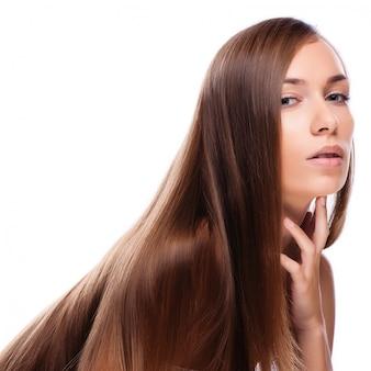 Cheveux. mannequin beauté femme