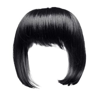 Cheveux noirs isolés