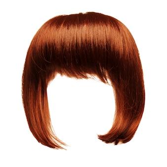 Cheveux roux isolés