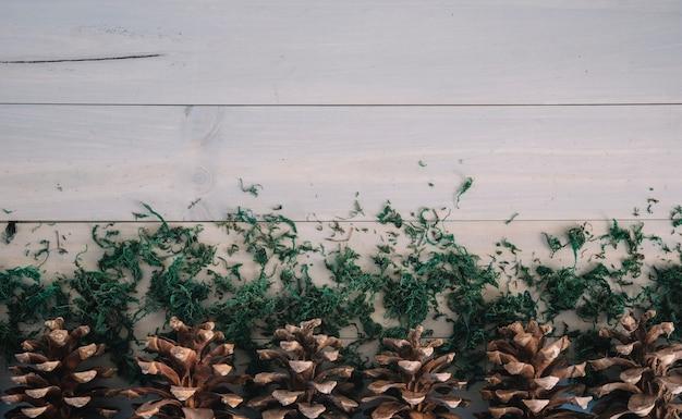 Des chicots sur une planche de bois