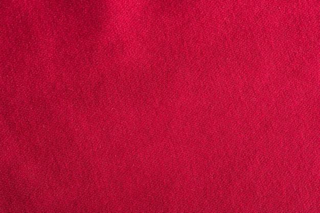 Chiffon en coton rouge. texture de tissu, fond textile.