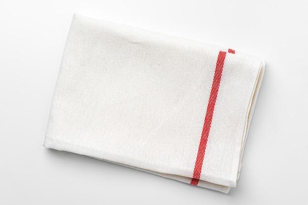 Chiffon de cuisine isolé sur fond blanc, gros plan