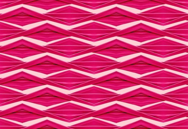 Chiffon de torsion rose doux sans couture en géométrie triangle forme de grille de fond.