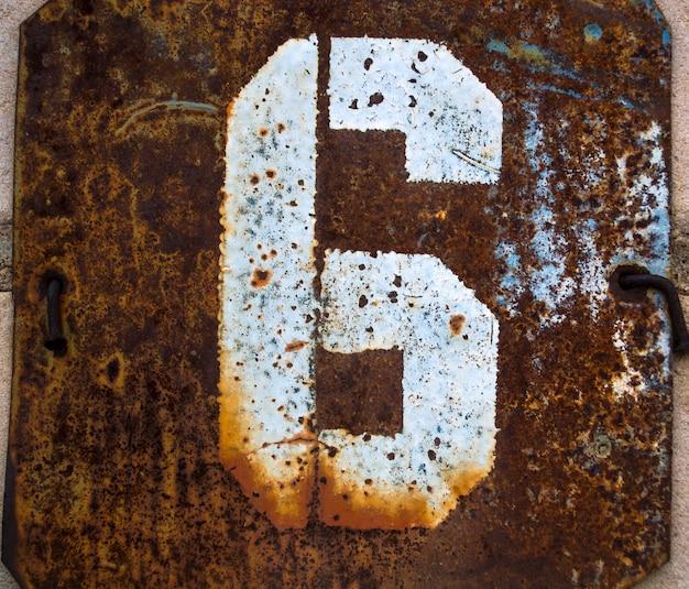 Chiffre le chiffre rétro l'ancien chiffre