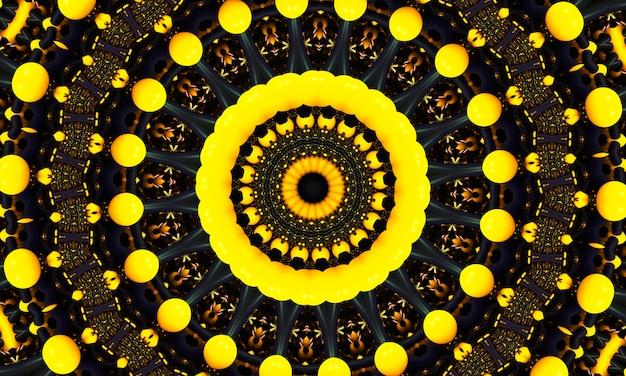 Chiffre de point rond jaune. modèle sans couture avec des cercles. abstrait bleu. illustration. un bon choix pour l'affichage de fond, le site web, les dépliants, les brochures et les présentations.