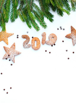 Chiffres 2019 de biscuits de noël du nouvel an
