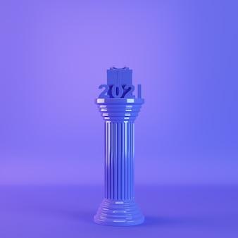 Chiffres 2021 sur colonne antique