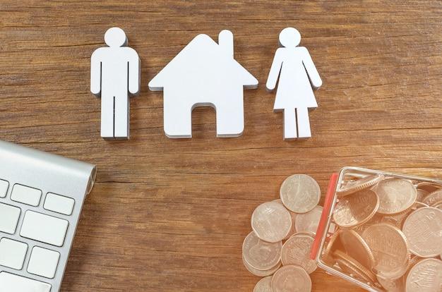 Les chiffres aiment. argent, épargne planification, finances, assurances, croissance des entreprises et société familiale
