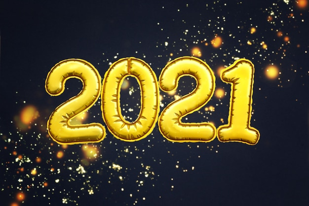 Chiffres d'or 2021 numéros de la bonne année