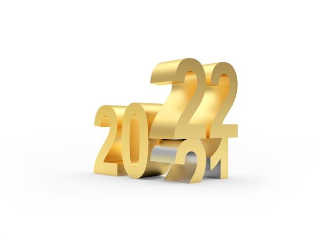 Les chiffres d'or de la nouvelle année changent