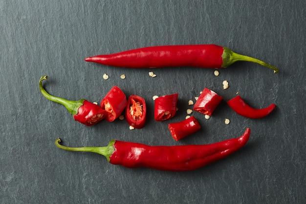 Chili rouge frais haché