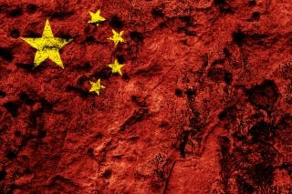 China grunge flag crasse
