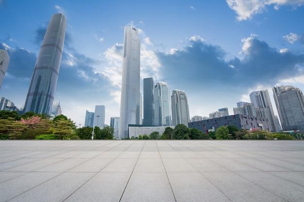 China guangzhou city plaza, centre-ville construit.