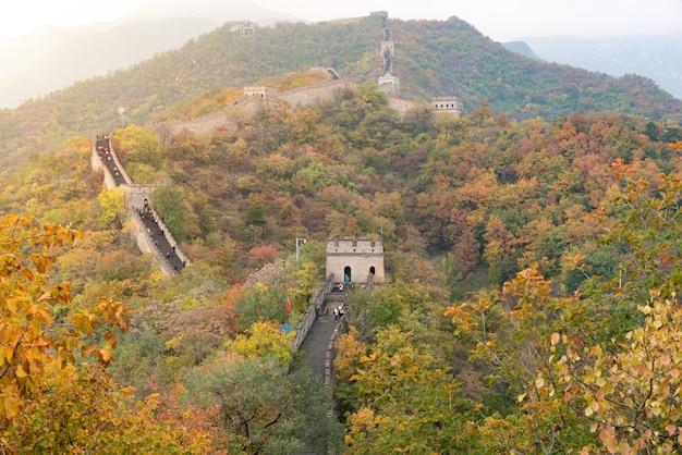 Chine la grande muraille de beijing, en chine.