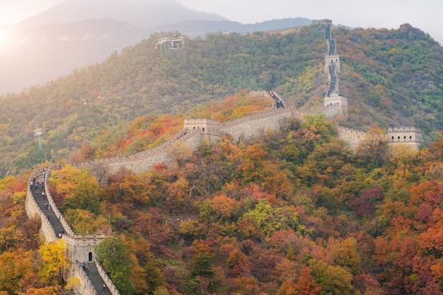 Chine la grande muraille près de beijing en chine.
