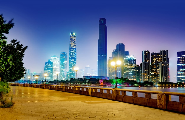 Chine guangzhou nuit