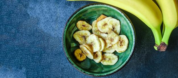 Chips de banane collation sucrée
