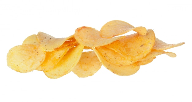 Chips isolés sur blanc