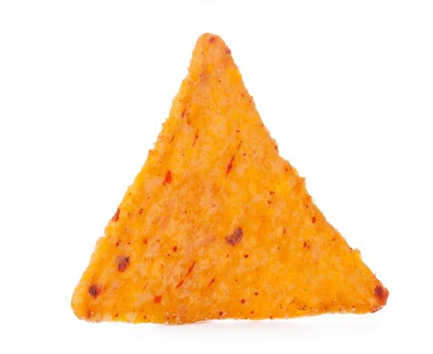 Chips de maïs nachos isolés